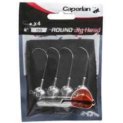 Bleikopf Spinnfischen Round Jig Head 15 g 4 Stk.