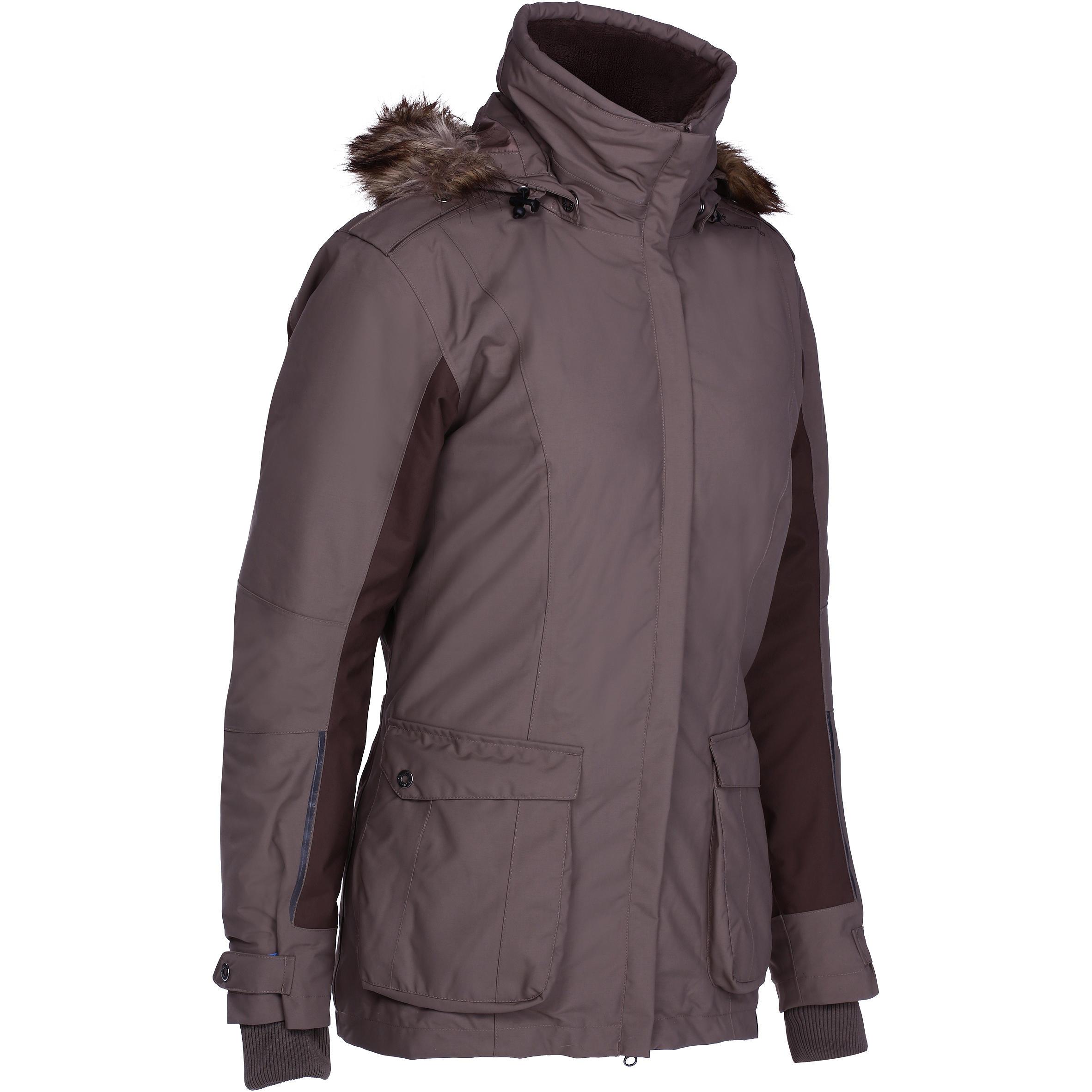 Winter-Reitparka Paddock wasserdicht warm Damen braun | Bekleidung > Jacken | Fouganza