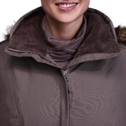 Warme parka ruitersport dames Paddock bruin