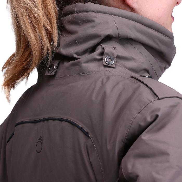 Winter-Reitparka Paddock wasserdicht warm Damen braun