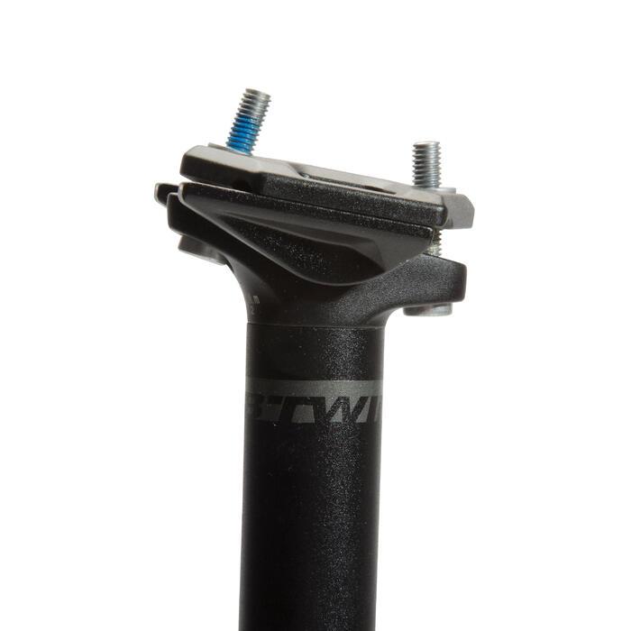 Zadelpen zwart diameter van 27,2 mm en van 29,8 tot 33 mm