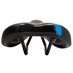 Fahrradsattel Sport Komfort 500 blau