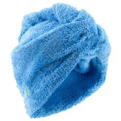 Soft microfibre hair towel - China Blue