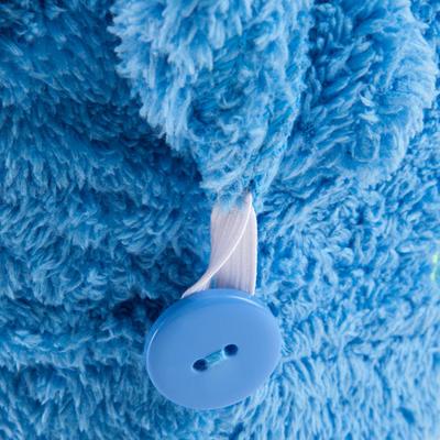 فوطة الشعر الميكروفيبر الناعمة - الأزرق