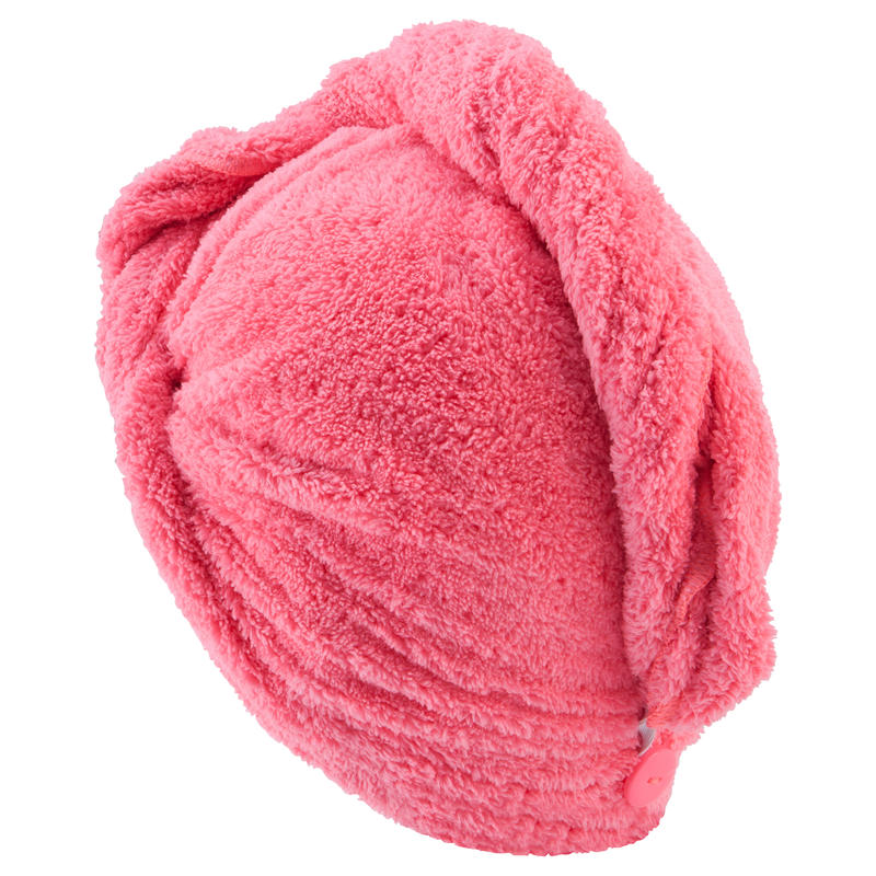 Swimming Soft Microfibre Hair Towel - Pink