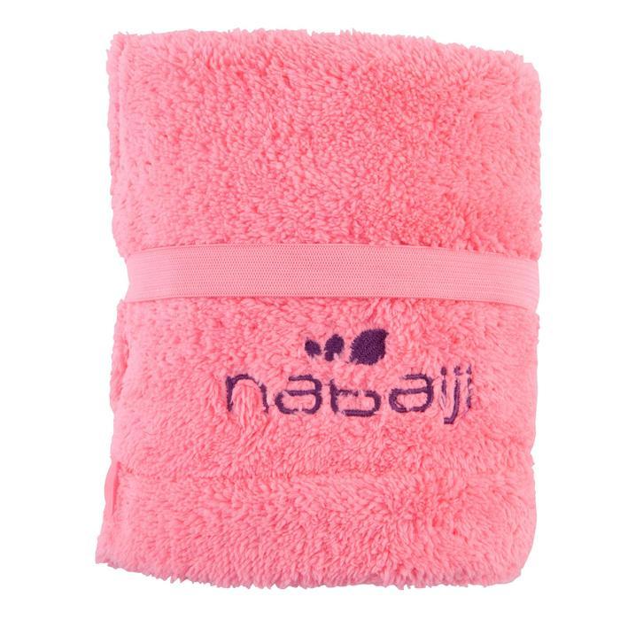柔軟微纖維乾髮毛巾 - 粉紅色