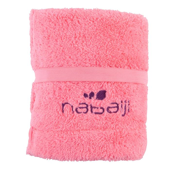 Haar handdoek in zachte microvezel fluoroze