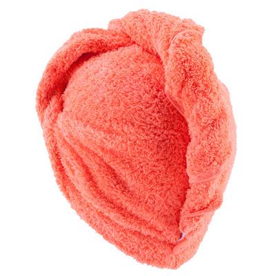Serviette microfibre douce cheveux orange