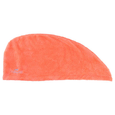 Serviette microfibre douce cheveux orange