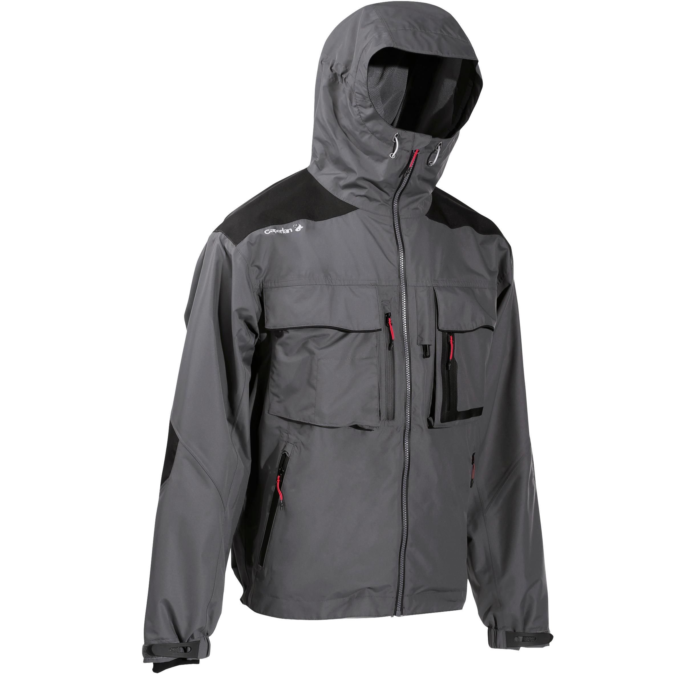 Veste pêche pluie-5 gris