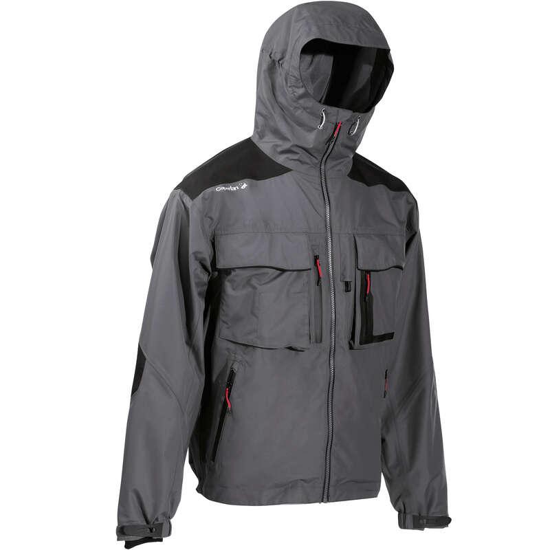 OBLEČENÍ DO DEŠTĚ Rybolov - Rybářská bunda500 šedá CAPERLAN - Příslušenství pro rybáře