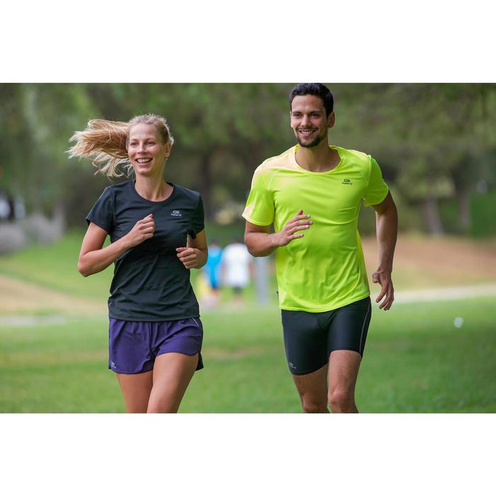 Heren T-shirt Run Dry voor hardlopen geel