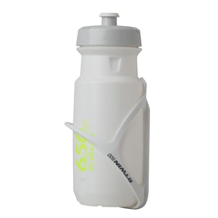 Bidón ciclismo 600 ml blanco