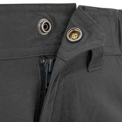 Men's dark gray mountain trekking trousers TREK100
