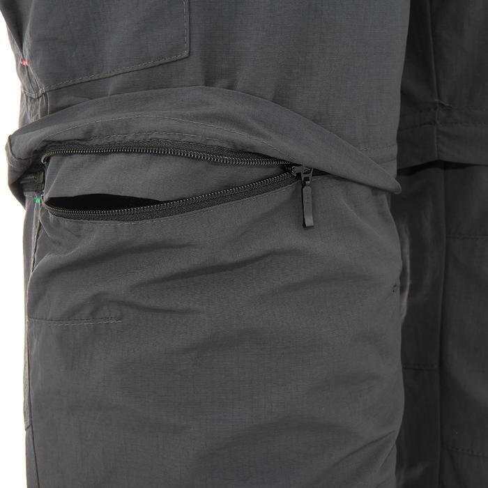 Pantalon modulable trekking montagne TREK 500 homme gris foncé - 736235