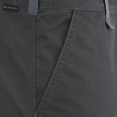 מכנסי דגמ_QUOTE_ח קצרים לגברים לטיולים בשטחים מישוריים Arpenaz 100 - אפור כהה