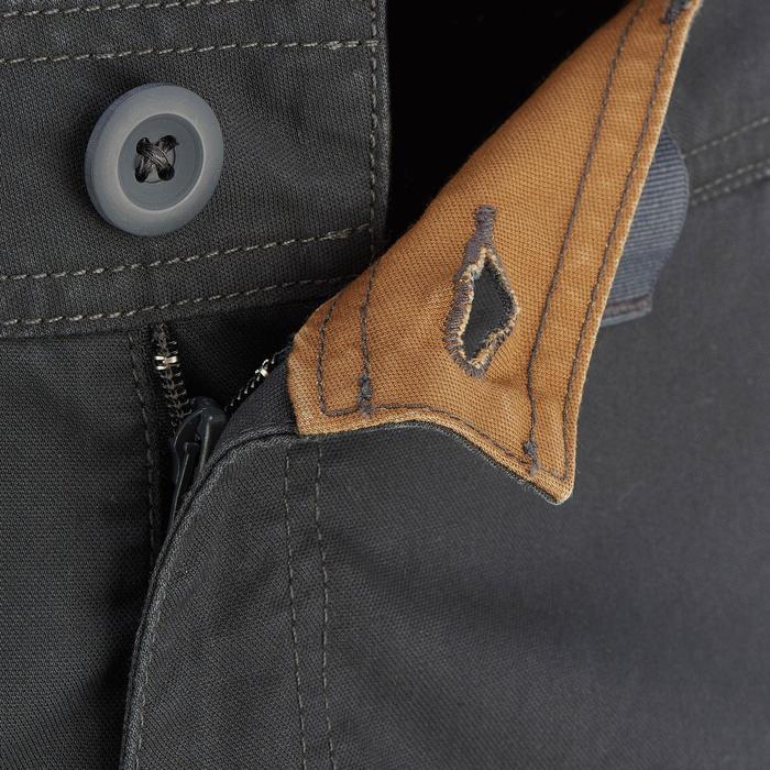 Pantalón corto de senderismo en la naturaleza hombre NH500 gris