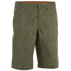 Pantalón corto senderismo en la naturaleza hombre NH500 caqui camuflaje