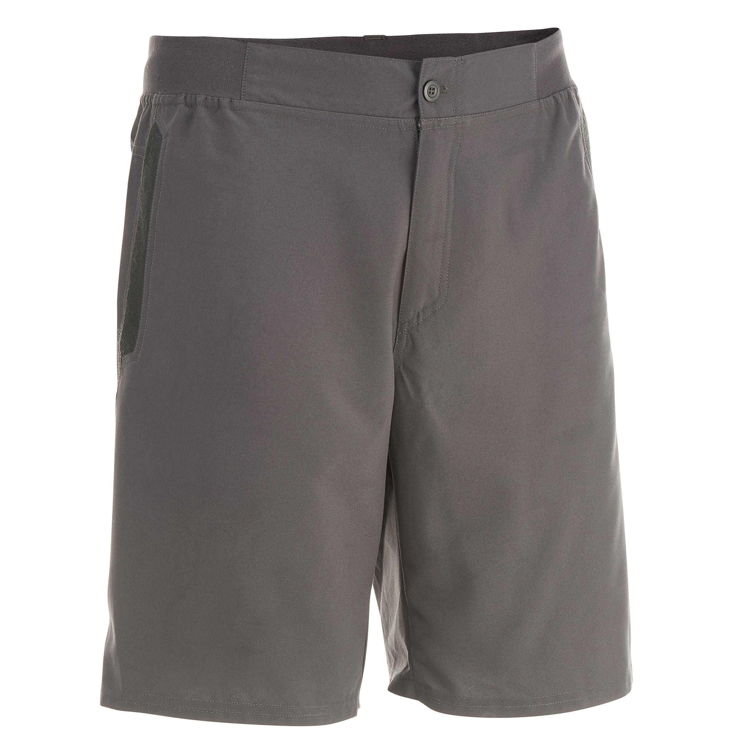 Short de campismo caballero Arpenaz 50 gris oscuro