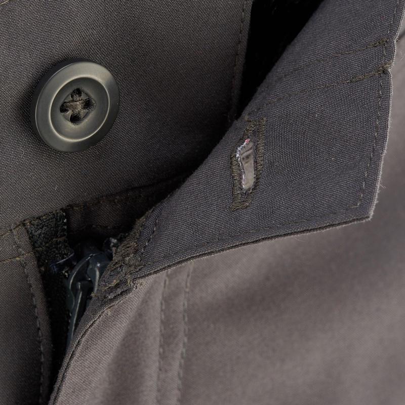 Pantalón corto de senderismo en la naturaleza hombre NH100 gris