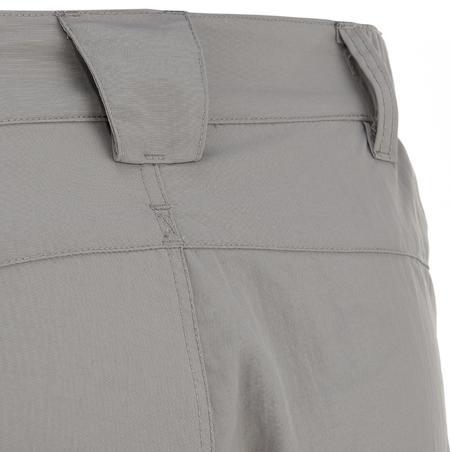 Forclaz 50 Men's Hiking Shorts - Abu-abu Muda