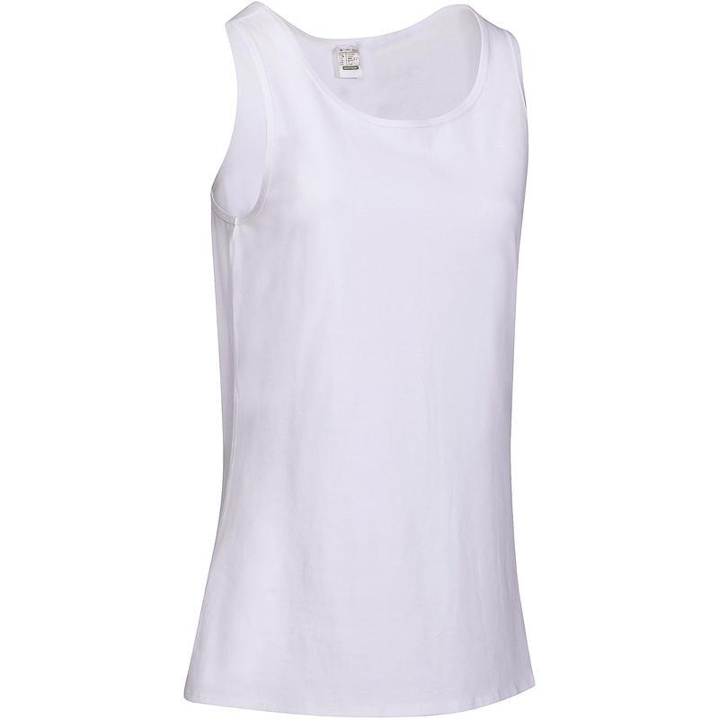 Débardeur Sport Pilates Gym douce Femme 100 Regular Blanc