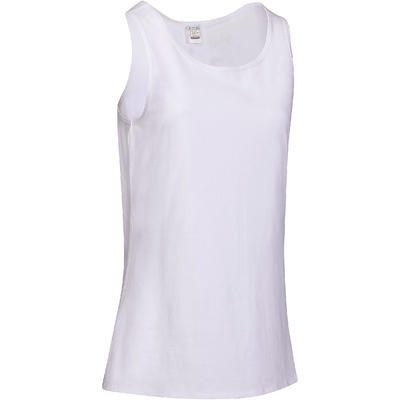 Women's Regular-Fit Pilates & Gentle Gym Sport Tank Top 100 - White