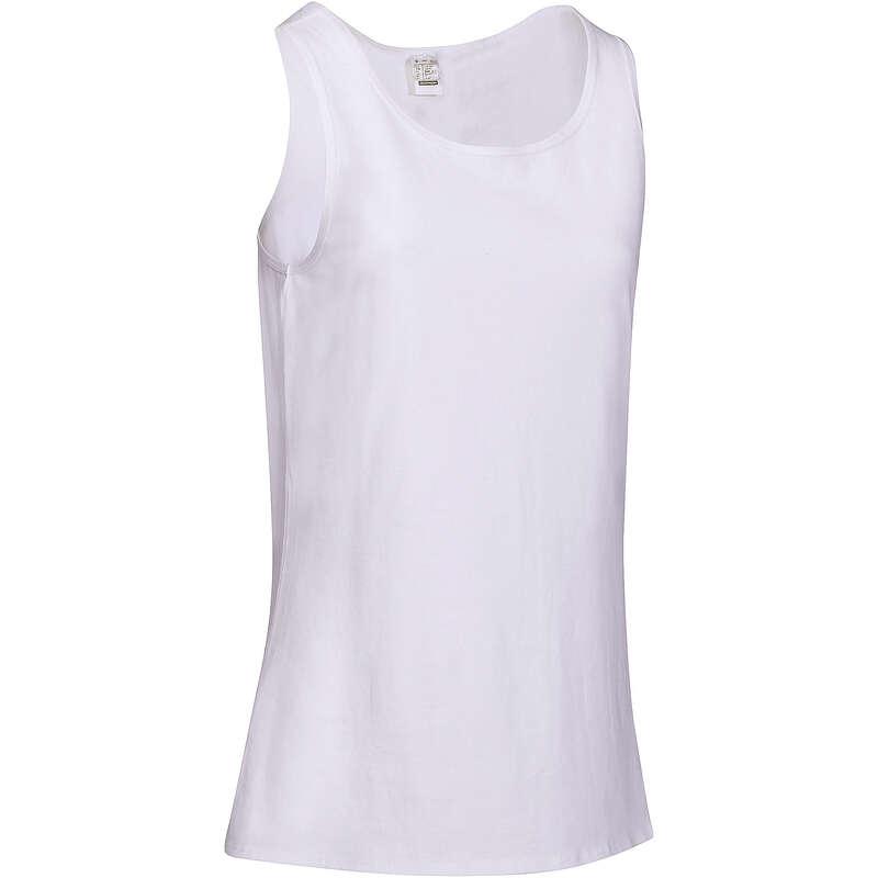 WOMAN T SHIRT LEGGING SHORT Clothing - Women's Gym Tank Top 100 White DOMYOS - Tops