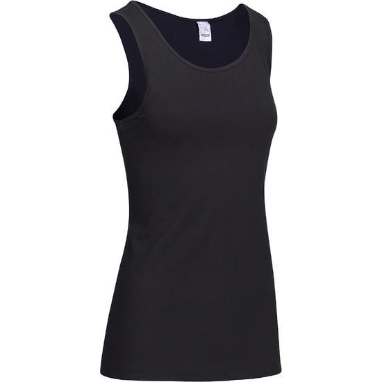 Tanktop gym & pilates dames felroze - 736743