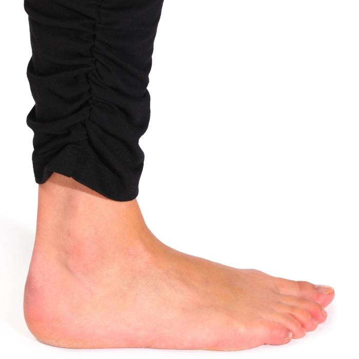 Legging yoga femme coton issu de l'agriculture biologique noir / gris chiné - 737034
