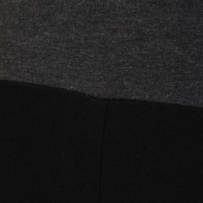 Legging yoga femme coton issu de l'agriculture biologique noir / gris chiné - 737038