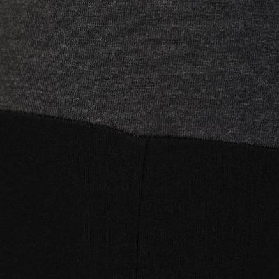 بنطلون يوجا ضيق من القطن العضوي للسيدات - أسود مُبقّع/ رمادي
