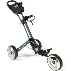 Driewiel golftrolley Compact inktblauw