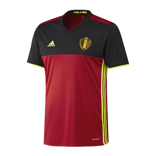 Voetbalshirt België thuisshirt EK 2016 volwassenen rood/zwart - 737696