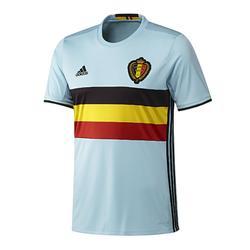 Voetbalshirt voor volwassenen, replica uitshirt België 2016 lichtblauw