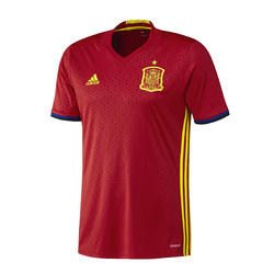 Voetbalshirt voor volwassenen, replica thuisshirt Spanje 2016 rood - 737698