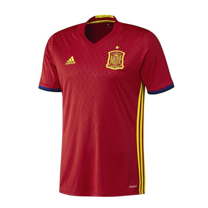 Voetbalshirt voor volwassenen, replica thuisshirt Spanje 2016 rood
