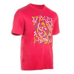 柔軟網球羽毛球桌球板網球桌球壁球T恤 500 - 粉紅色