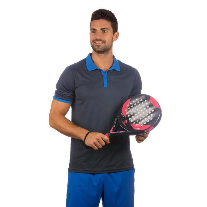 POLO HOMME SOFT 500 MARINE TENNIS BADMINTON TENNIS DE TABLE PADEL SQUASH ARTENGO