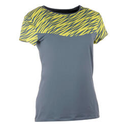 Artengo dames-T-shirt Soft Graph voor tennis, badminton, tafeltennis, padel grn