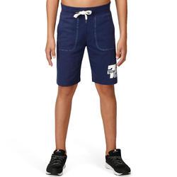 Celana Pendek Fitness Anak Laki-Laki - Biru Navy