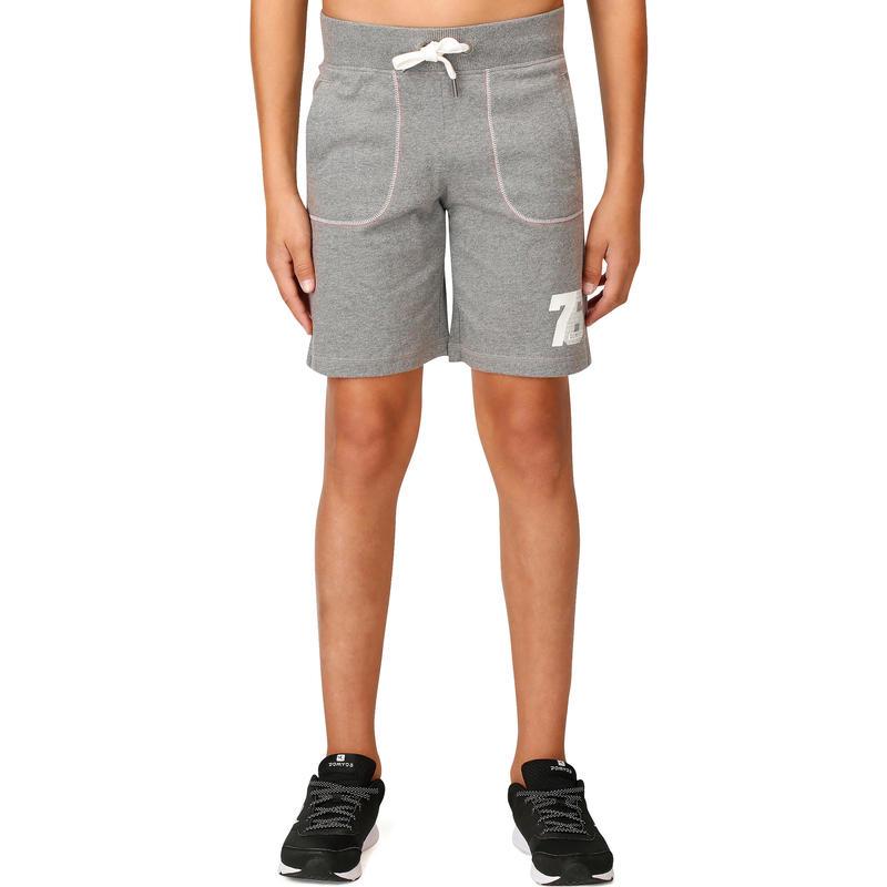 Boys' Print Fitness Shorts - Grey