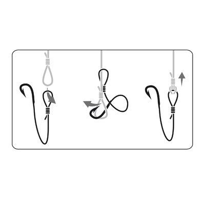 Fishing rigged hooks SN Hook - sea reversed