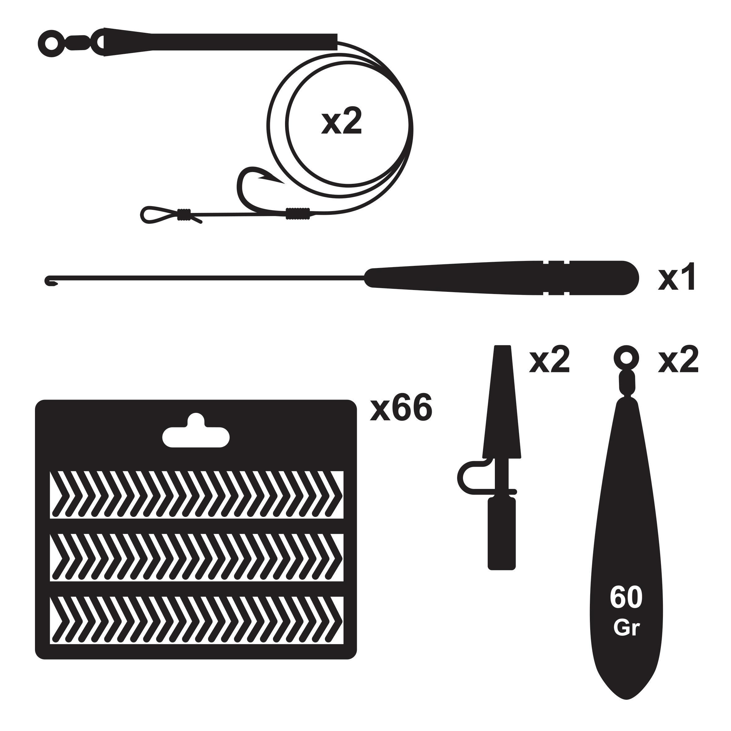 Ensemble de base pour la pêche de la carpe