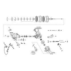 Werpmolen lange afstandhengelen Advant Power 5000 - 738481