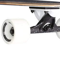 Tabla Longboard Skate OXELO Fish Classic Adulto Blanco Marrón