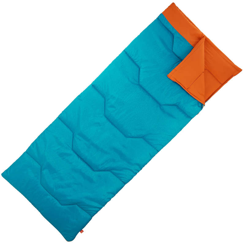 BASE CAMP SLEEPING BAGS Camping - ARPENAZ 15° SLEEPING BAG - BLU QUECHUA - Sleeping Equipment