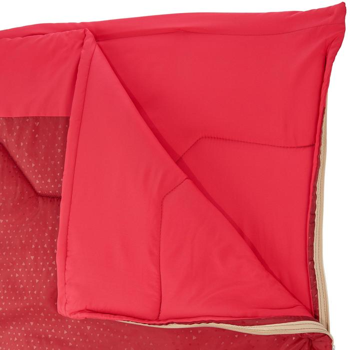 Campingschlafsack Arpenaz 15° rot