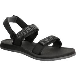 S 100 男款沙灘涼鞋 - 黑色