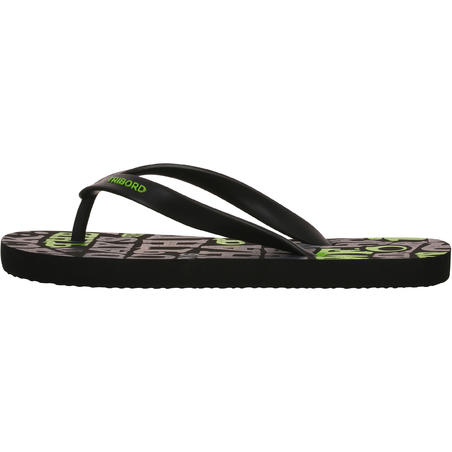 Boys' Flip-Flops 120 - Words Black
